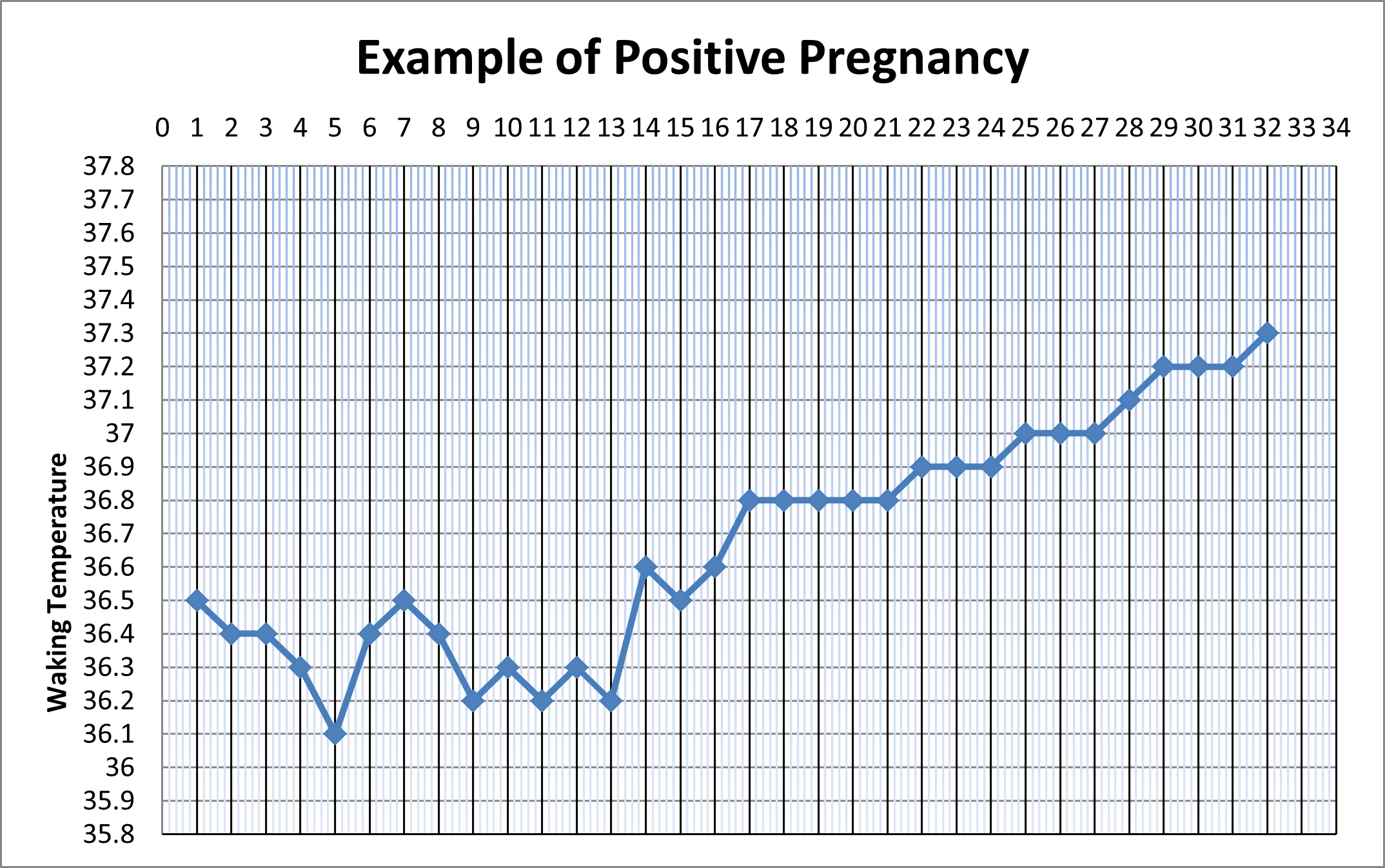 Example of positive pregnancy